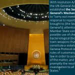 UNODA holds virtual onboarding sessions for experts and laboratories nominated to the roster for the Secretary-General's Mechanism for Investigation of Alleged Use of Chemical or Biological Weapons (UNSGM)