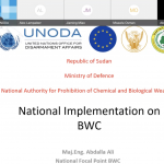 UNODA and Sudan launch National Preparedness Programme in the framework of EU Council Decision 2019/97 in support of the Biological Weapons Convention